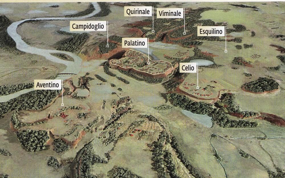 Resultado de imagem para fotos das sete colinas de roma